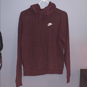 Nike Maroon Cowl Neck Hoodie